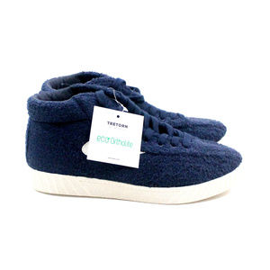 Tretorn NYLITEHIXAB2 Blue Terry Cloth Mid Sneakers